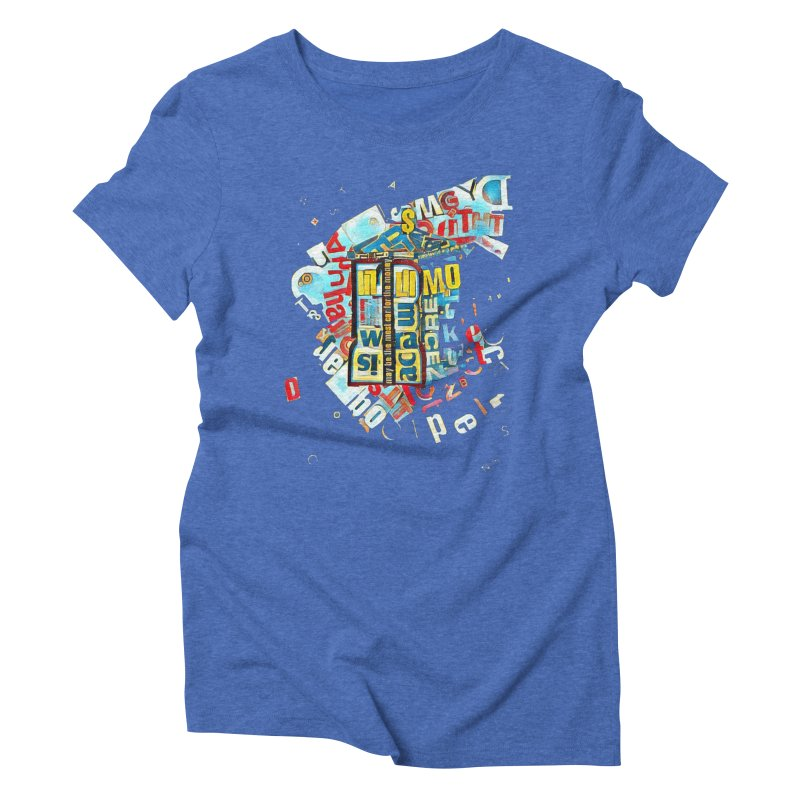 Time & Relative Dimension in Space Women's Triblend T-shirt by dasiavou's Artist Shop
