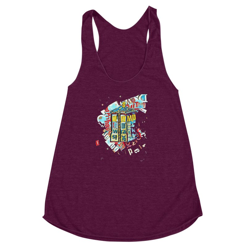 Time & Relative Dimension in Space Women's Racerback Triblend Tank by dasiavou's Artist Shop