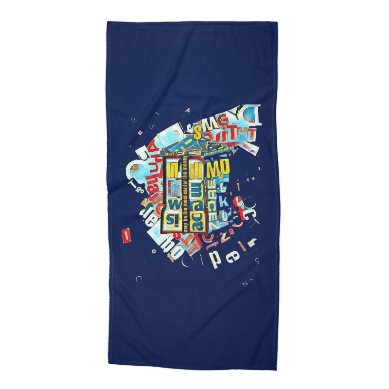 Time & Relative Dimension in Space Accessories Beach Towel by dasiavou's Artist Shop