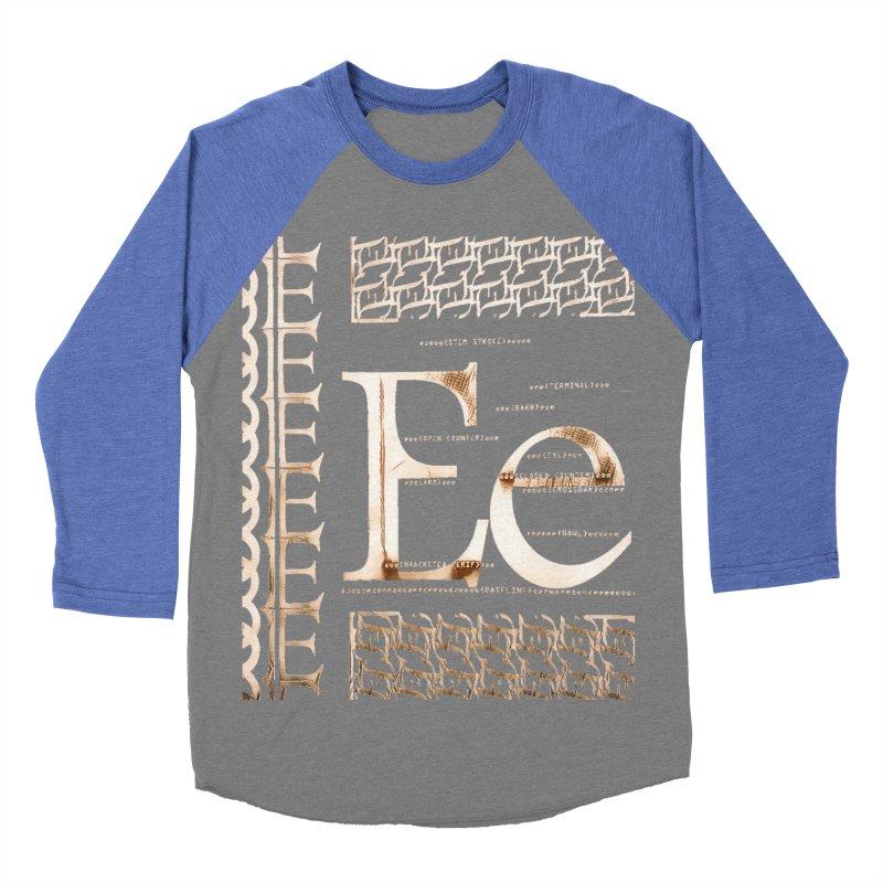 Eee Women's Baseball Triblend T-Shirt by dasiavou's Artist Shop