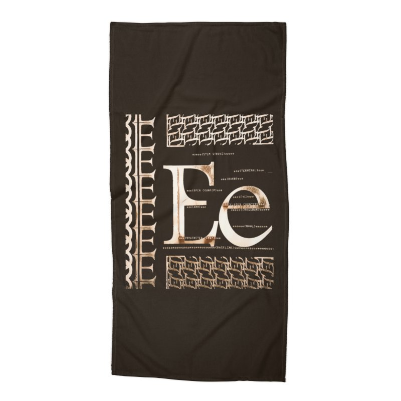 Eee Accessories Beach Towel by dasiavou's Artist Shop