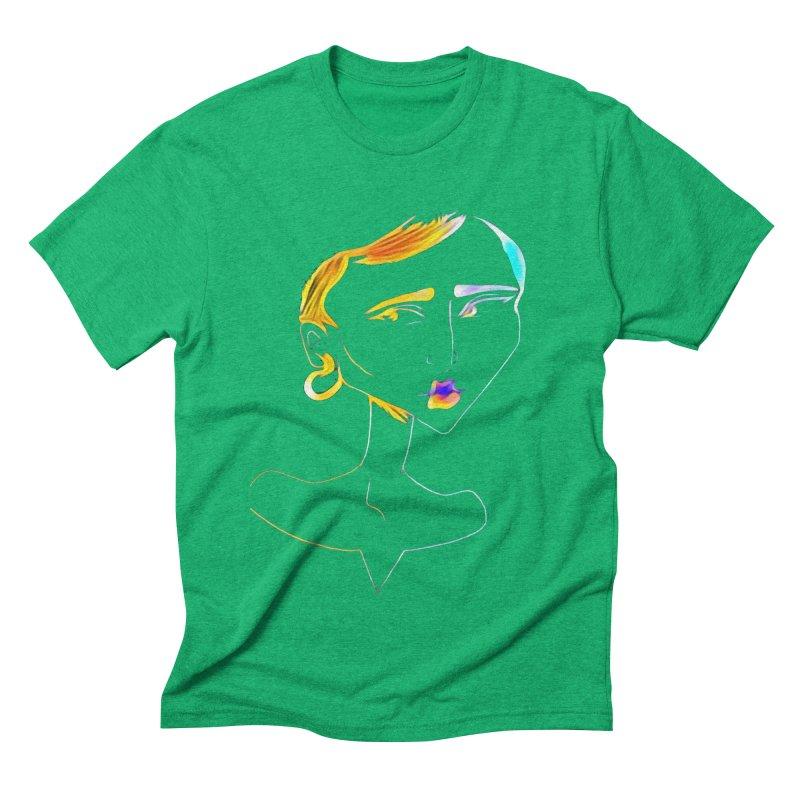 Café Neuf Men's Triblend T-Shirt by dasiavou's Artist Shop