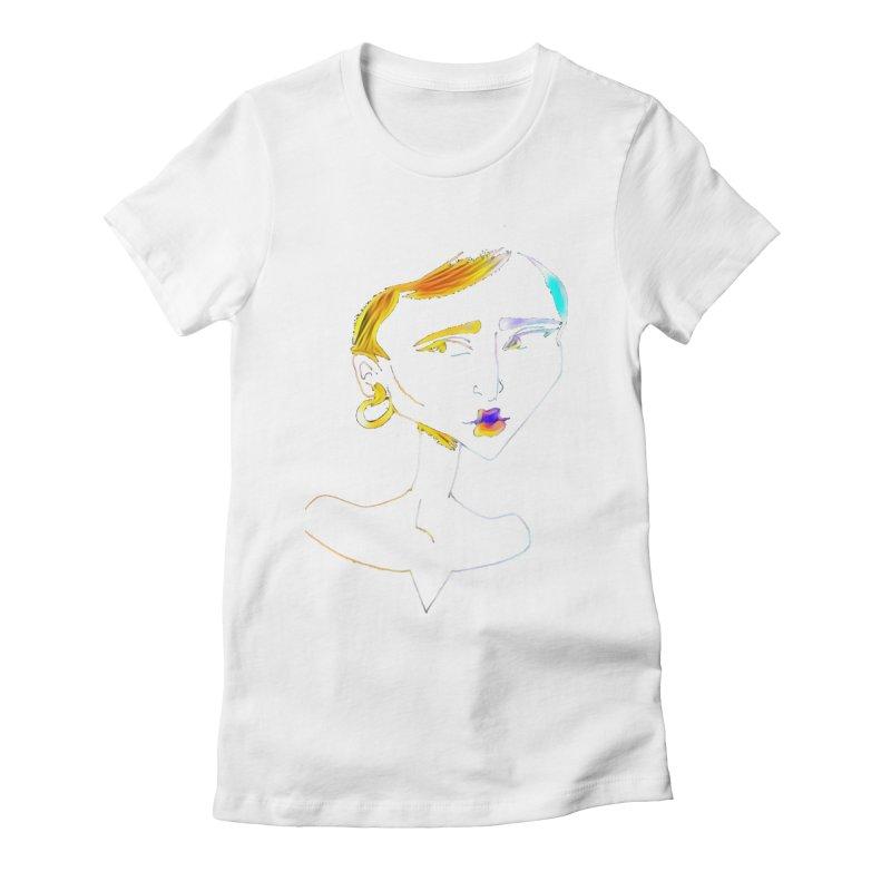 Café Neuf Women's Fitted T-Shirt by dasiavou's Artist Shop