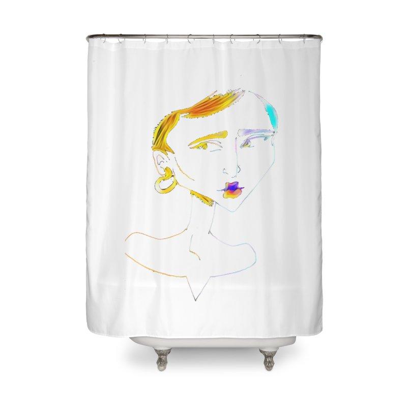Café Neuf Home Shower Curtain by dasiavou's Artist Shop