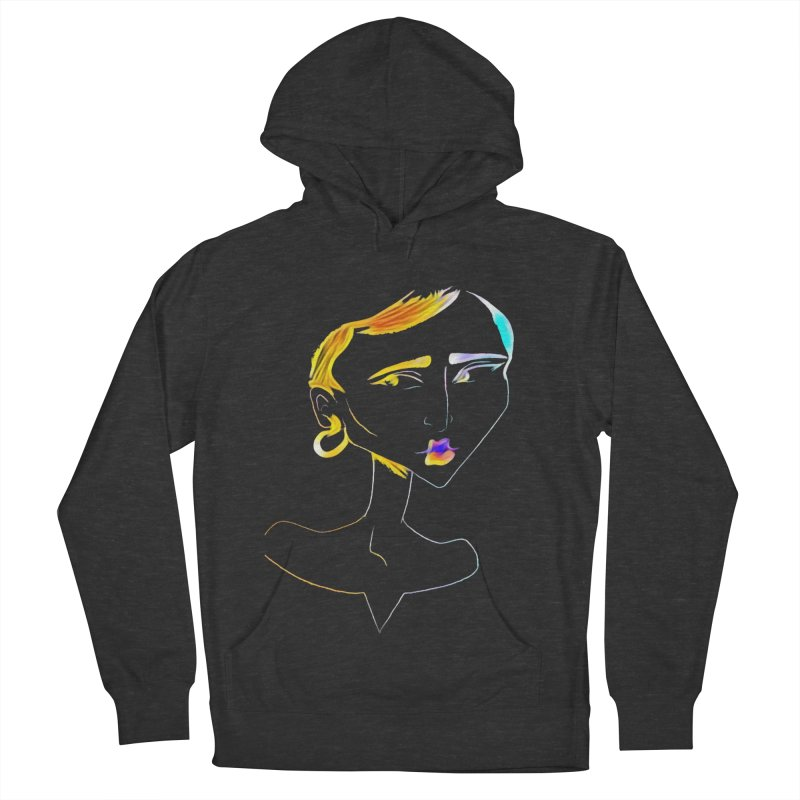 Café Neuf Women's French Terry Pullover Hoody by dasiavou's Artist Shop
