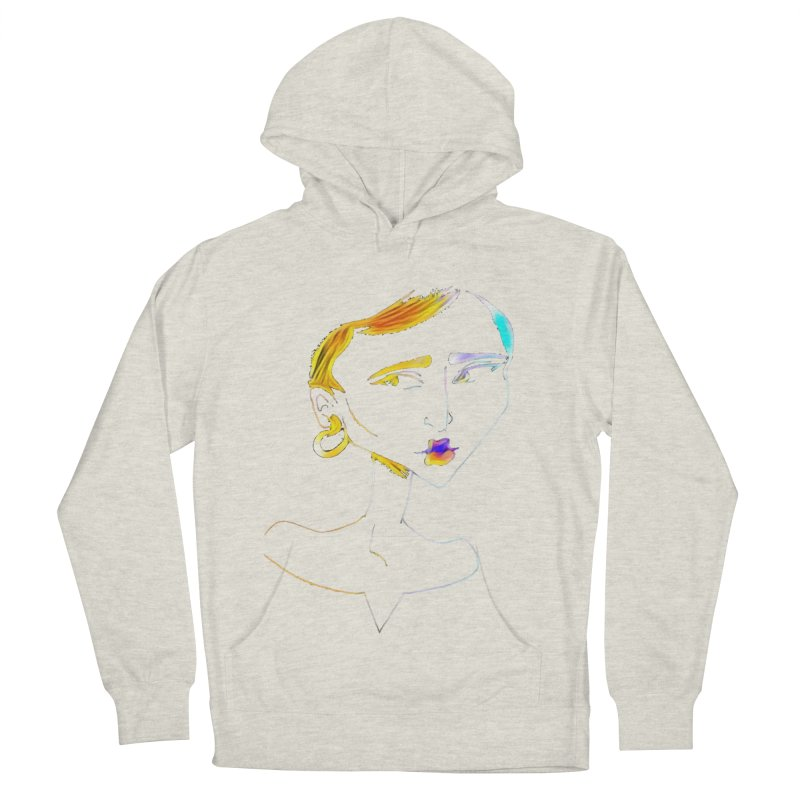 Café Neuf Men's French Terry Pullover Hoody by dasiavou's Artist Shop