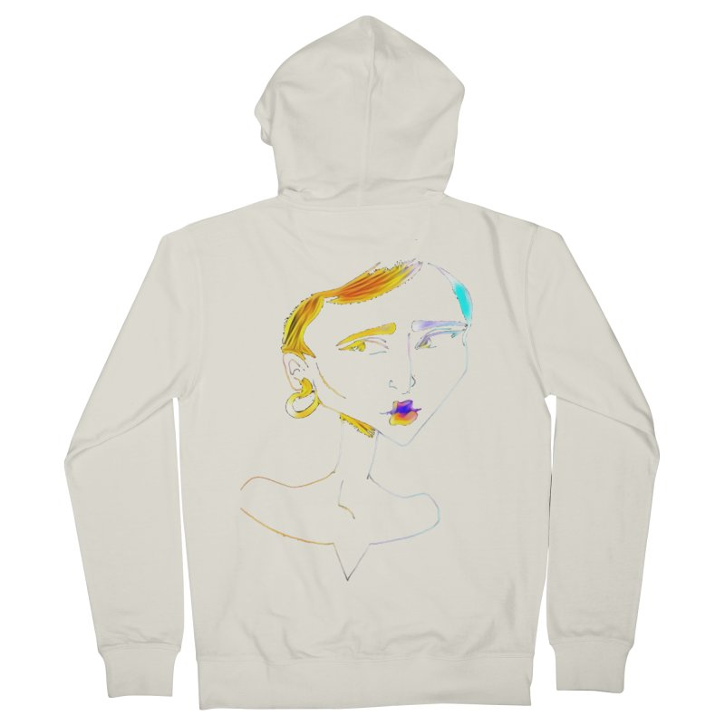 Café Neuf Women's French Terry Zip-Up Hoody by dasiavou's Artist Shop