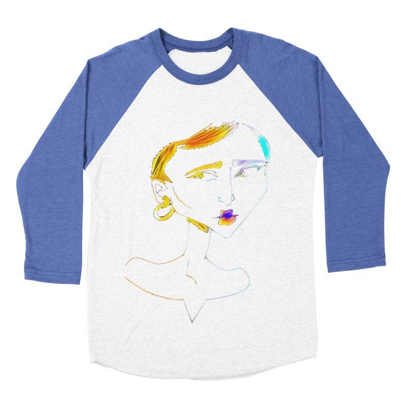 Café Neuf Women's Baseball Triblend Longsleeve T-Shirt by dasiavou's Artist Shop