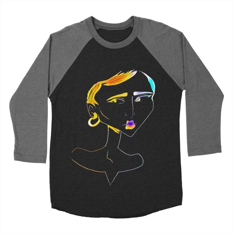 Café Neuf Men's Baseball Triblend Longsleeve T-Shirt by dasiavou's Artist Shop