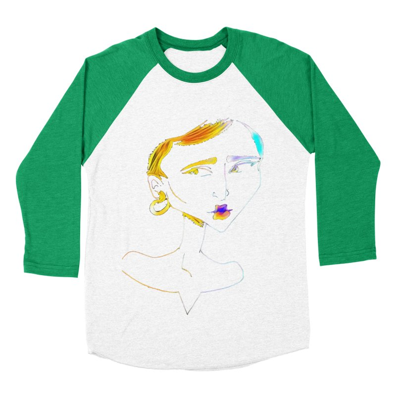 Café Neuf Men's Baseball Triblend T-Shirt by dasiavou's Artist Shop