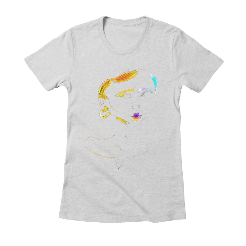 Café Neuf Women's Fitted T-Shirt by dasiavou's Artist Shop