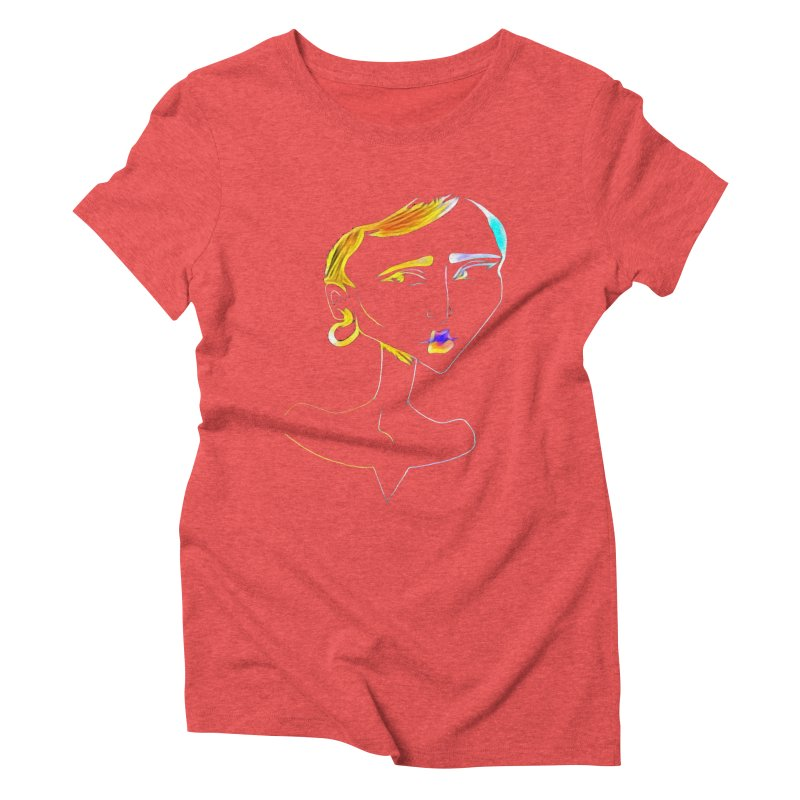 Café Neuf Women's Triblend T-Shirt by dasiavou's Artist Shop