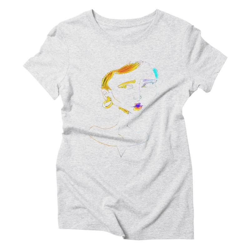 Café Neuf Women's Triblend T-Shirt by dasiavou's Artist Shop