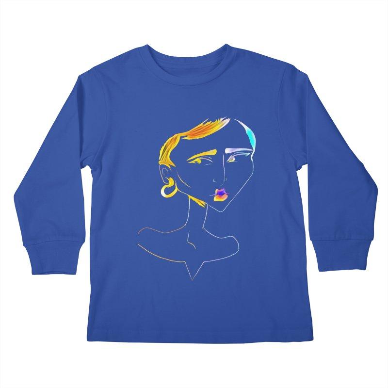 Café Neuf Kids Longsleeve T-Shirt by dasiavou's Artist Shop