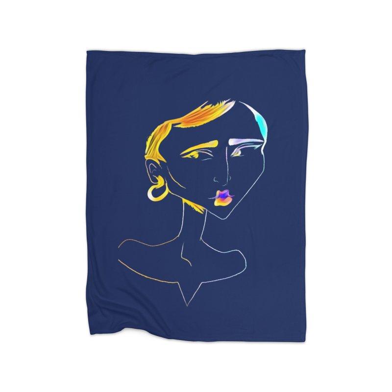 Café Neuf Home Fleece Blanket Blanket by dasiavou's Artist Shop
