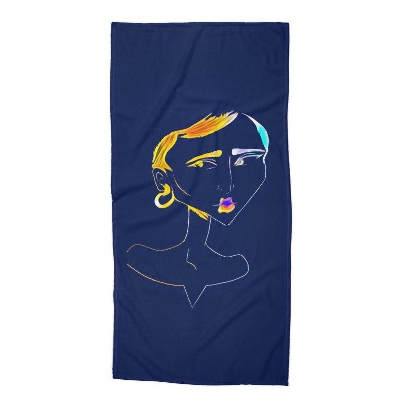 Café Neuf Accessories Beach Towel by dasiavou's Artist Shop