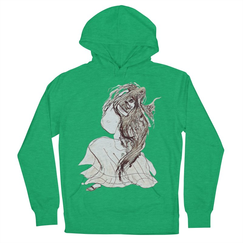 Frustration Men's French Terry Pullover Hoody by dasiavou's Artist Shop