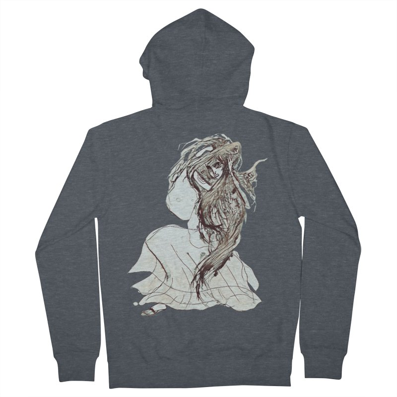 Frustration Women's French Terry Zip-Up Hoody by dasiavou's Artist Shop