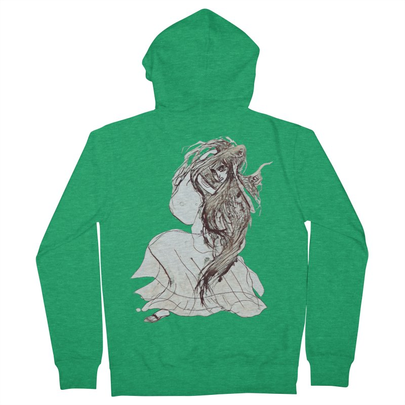Frustration Men's French Terry Zip-Up Hoody by dasiavou's Artist Shop