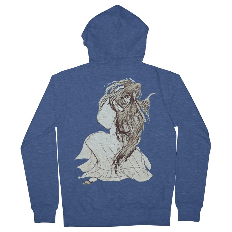 Frustration Men's Zip-Up Hoody by dasiavou's Artist Shop