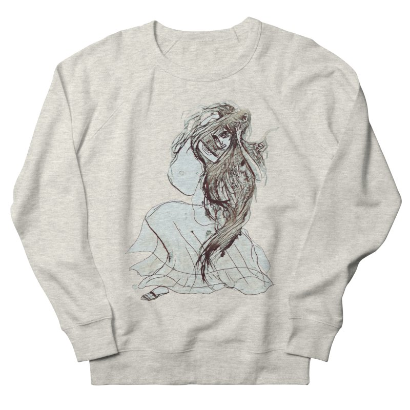 Frustration Men's French Terry Sweatshirt by dasiavou's Artist Shop