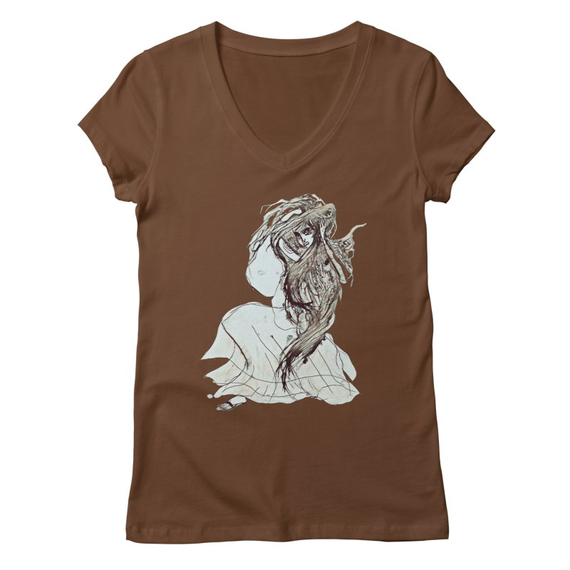 Frustration Women's V-Neck by dasiavou's Artist Shop