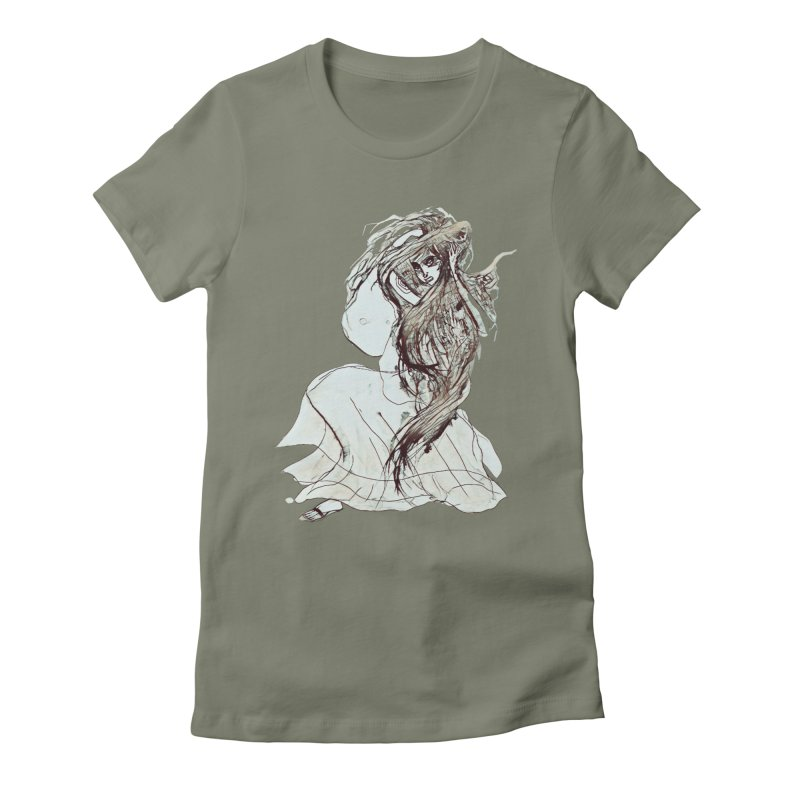 Frustration Women's Fitted T-Shirt by dasiavou's Artist Shop