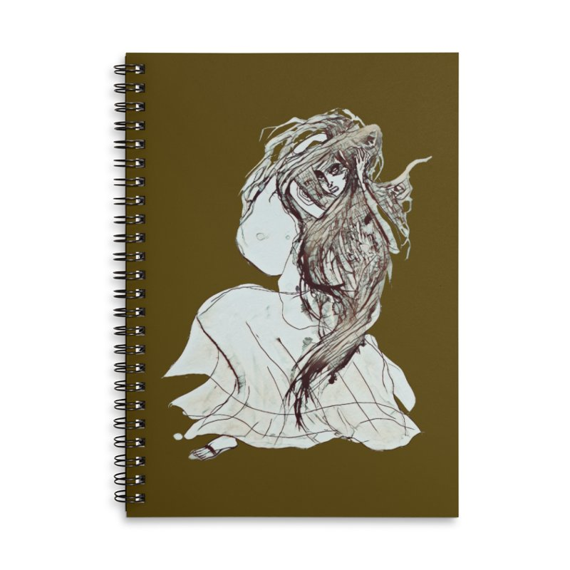 Frustration Accessories Lined Spiral Notebook by dasiavou's Artist Shop