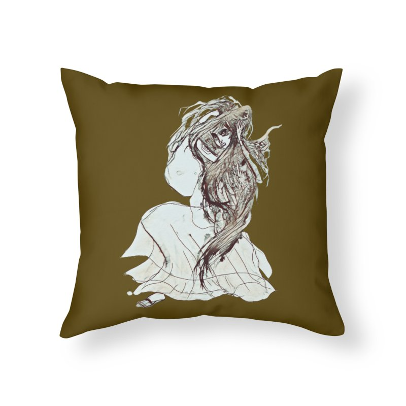 Frustration Home Throw Pillow by dasiavou's Artist Shop