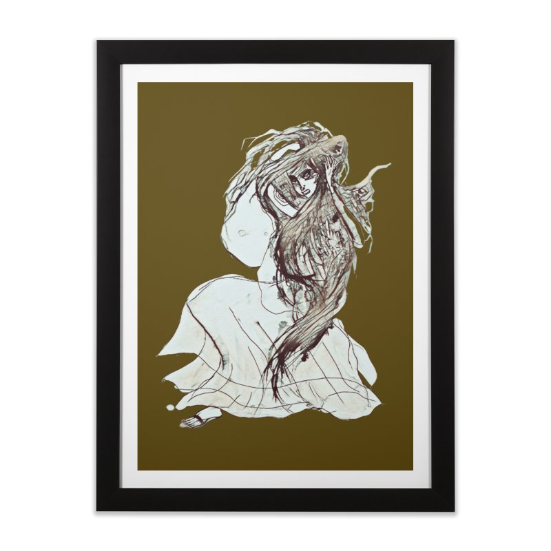 Frustration Home Framed Fine Art Print by dasiavou's Artist Shop