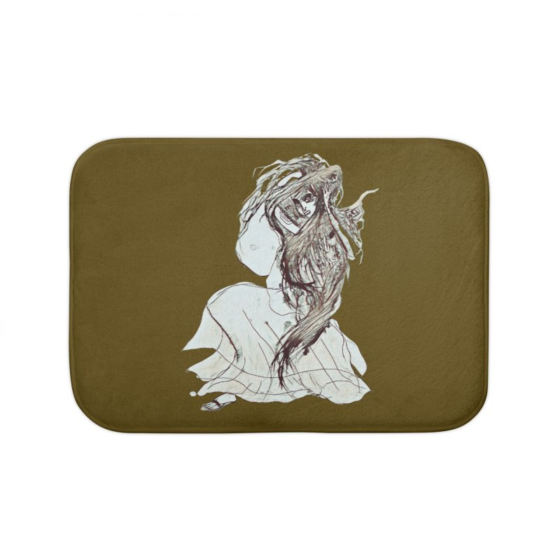 Frustration Home Bath Mat by dasiavou's Artist Shop