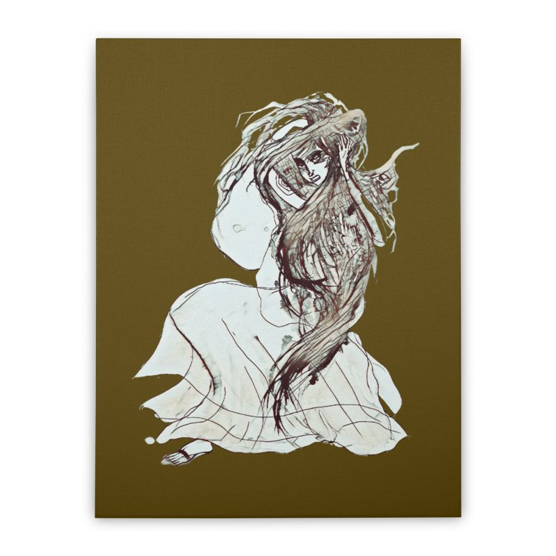 Frustration Home Stretched Canvas by dasiavou's Artist Shop