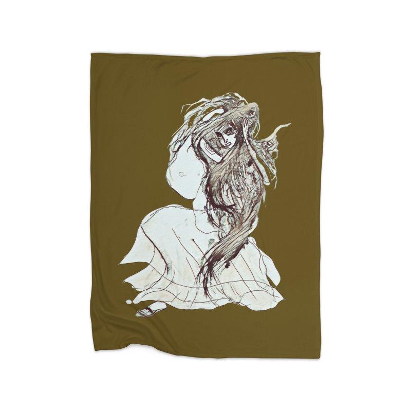 Frustration Home Fleece Blanket Blanket by dasiavou's Artist Shop