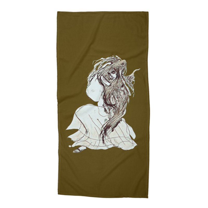 Frustration Accessories Beach Towel by dasiavou's Artist Shop