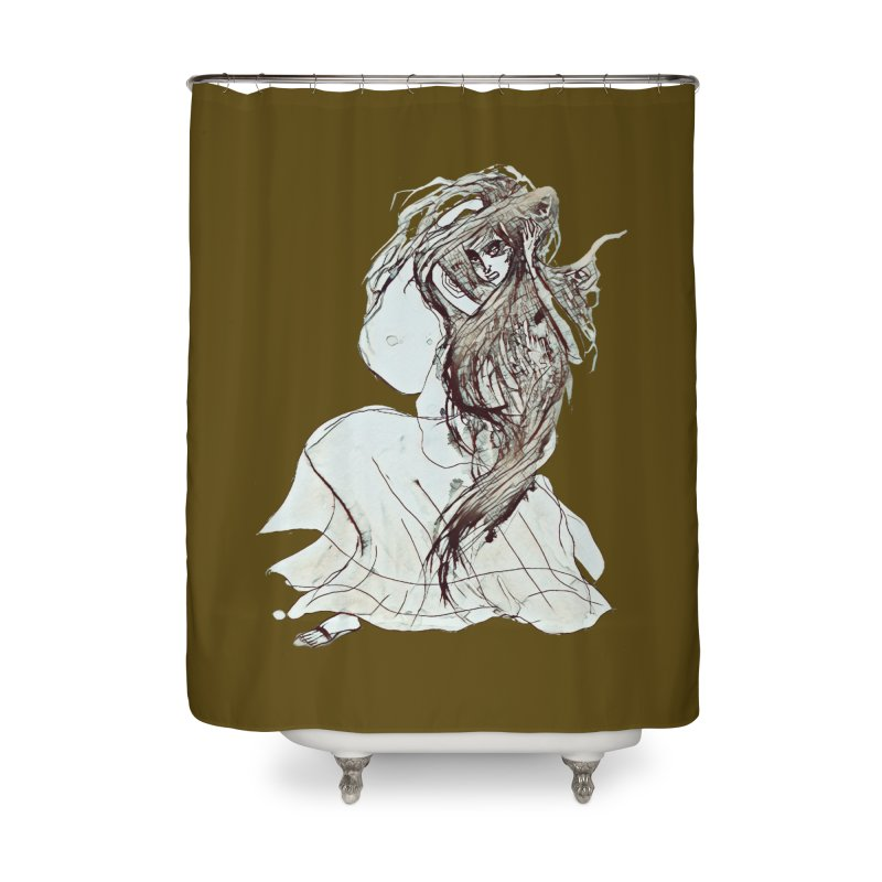 Frustration Home Shower Curtain by dasiavou's Artist Shop