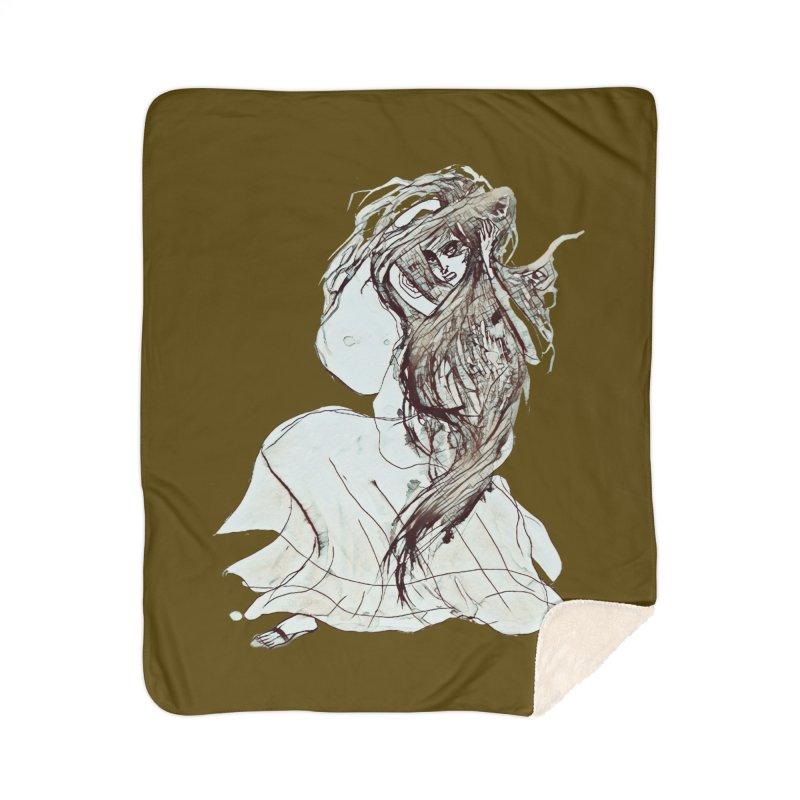 Frustration Home Sherpa Blanket Blanket by dasiavou's Artist Shop