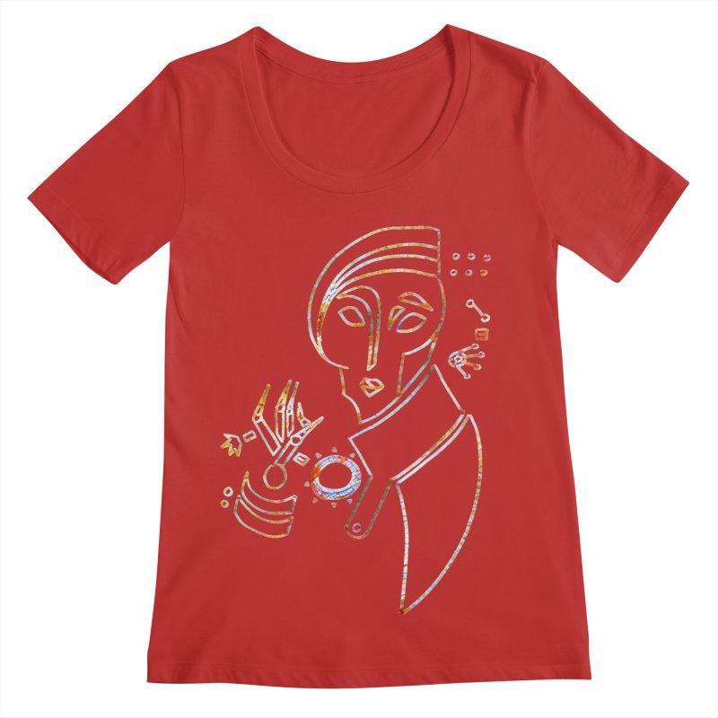 Terra Ex Machina Women's Regular Scoop Neck by dasiavou's Artist Shop