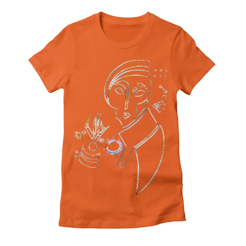 Terra Ex Machina Women's Fitted T-Shirt by dasiavou's Artist Shop