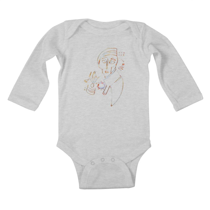 Terra Ex Machina Kids Baby Longsleeve Bodysuit by dasiavou's Artist Shop