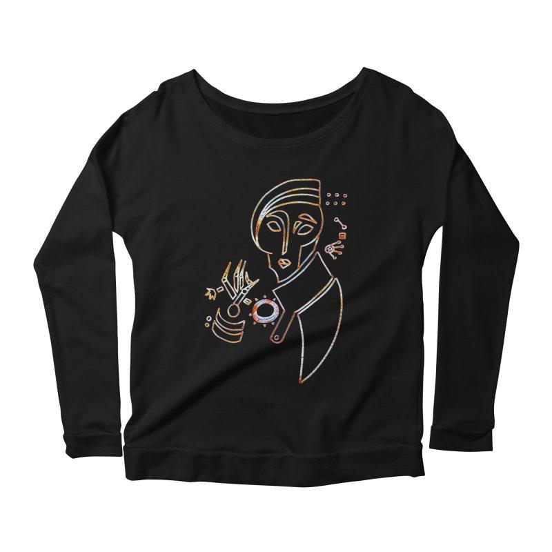 Terra Ex Machina Women's Scoop Neck Longsleeve T-Shirt by dasiavou's Artist Shop