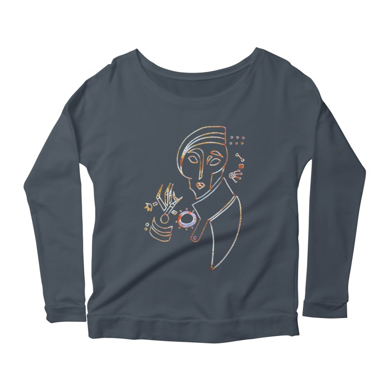 Terra Ex Machina Women's Longsleeve Scoopneck  by dasiavou's Artist Shop