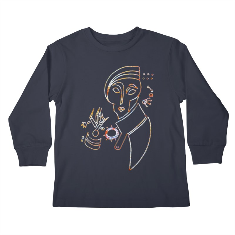 Terra Ex Machina Kids Longsleeve T-Shirt by dasiavou's Artist Shop