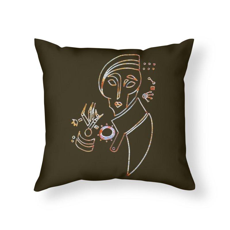 Terra Ex Machina Home Throw Pillow by dasiavou's Artist Shop