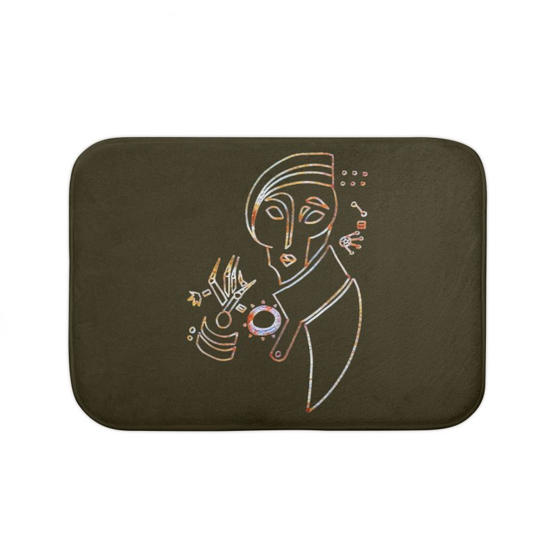 Terra Ex Machina Home Bath Mat by dasiavou's Artist Shop