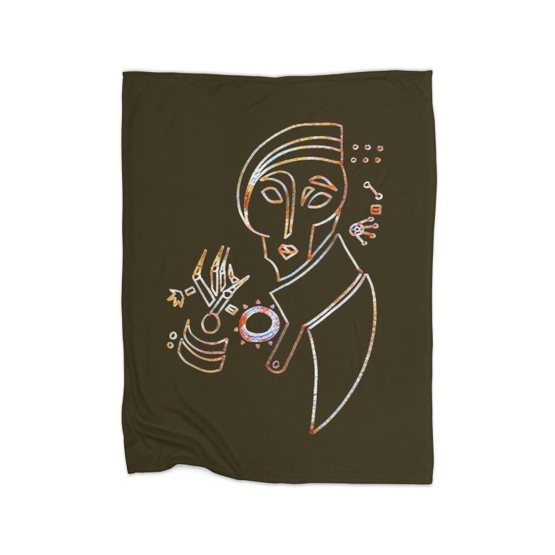 Terra Ex Machina Home Fleece Blanket Blanket by dasiavou's Artist Shop