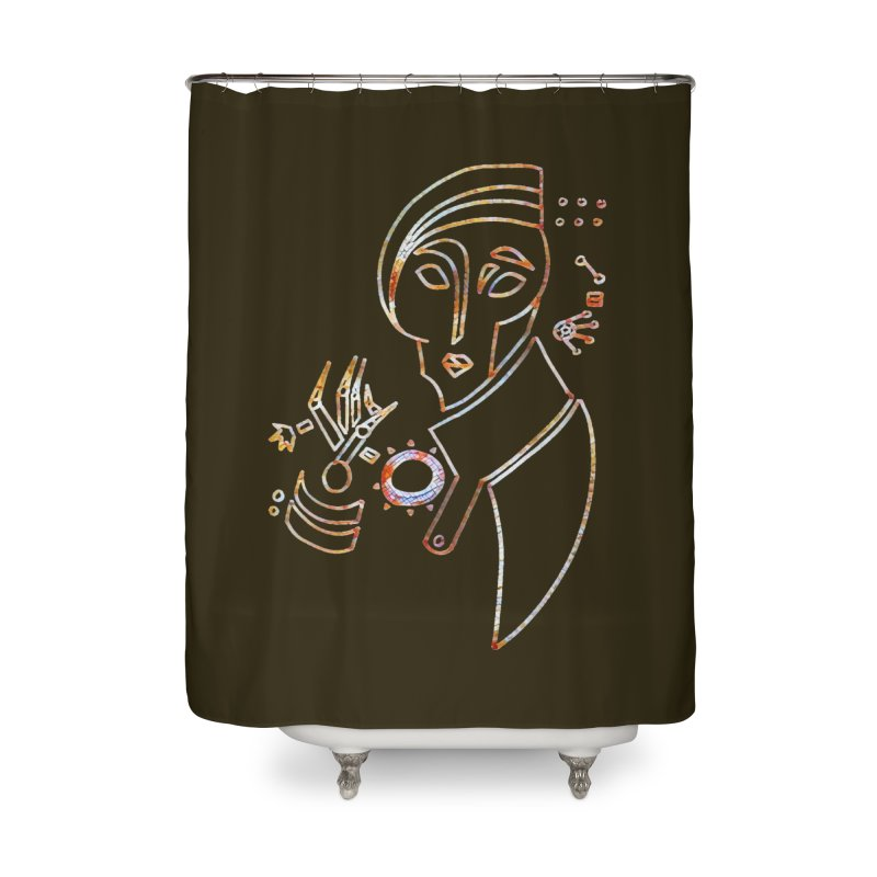 Terra Ex Machina Home Shower Curtain by dasiavou's Artist Shop