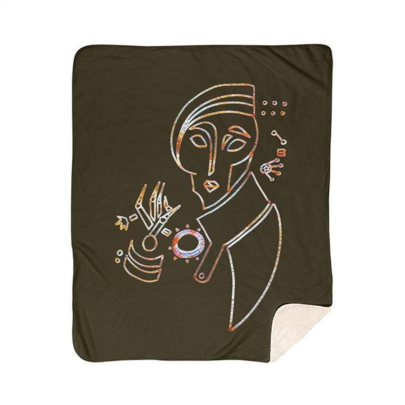 Terra Ex Machina Home Sherpa Blanket Blanket by dasiavou's Artist Shop