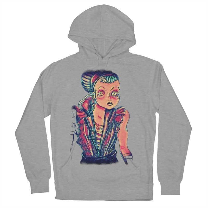 Bandit Queen Men's French Terry Pullover Hoody by dasiavou's Artist Shop