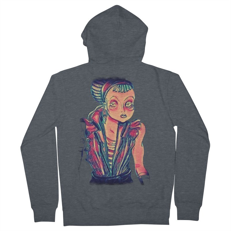 Bandit Queen Women's French Terry Zip-Up Hoody by dasiavou's Artist Shop