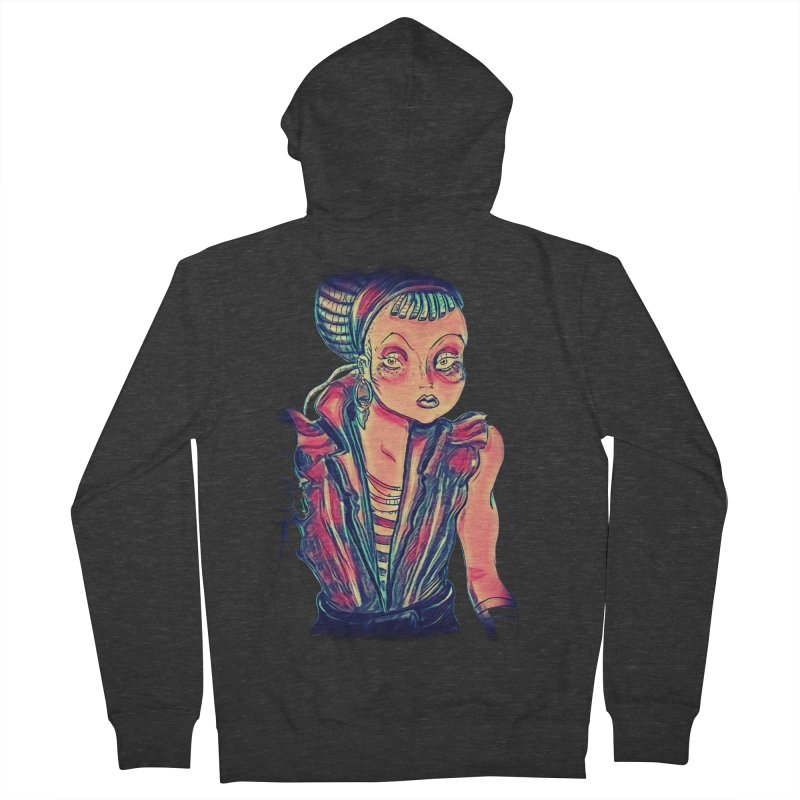 Bandit Queen Men's Zip-Up Hoody by dasiavou's Artist Shop